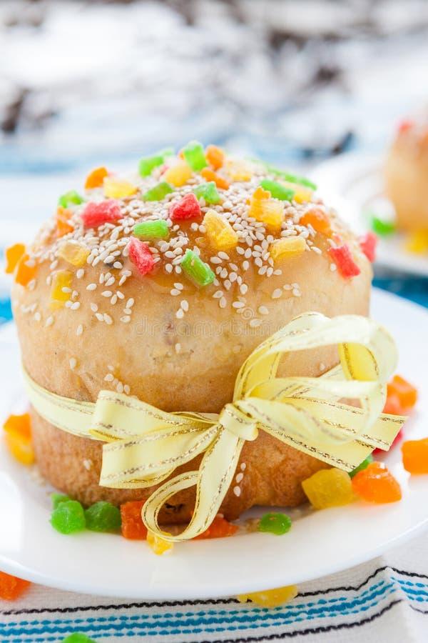 复活节的自创复活节蛋糕 库存图片