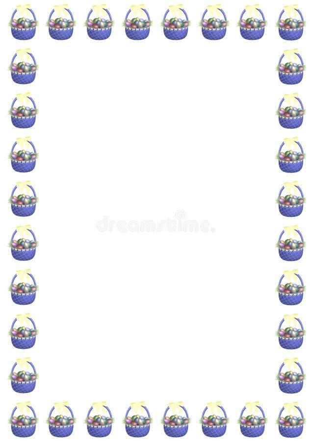 复活节篮子边界 免版税库存图片