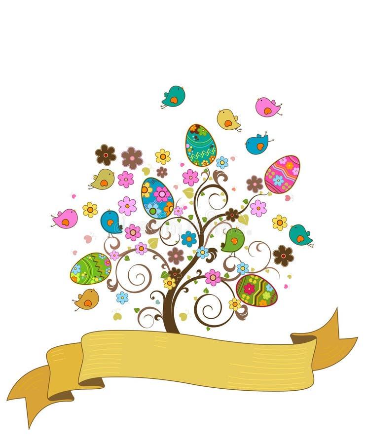 复活节结构树 库存例证