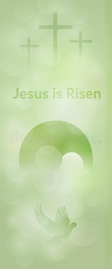 复活节背景-耶稣上升 向量例证