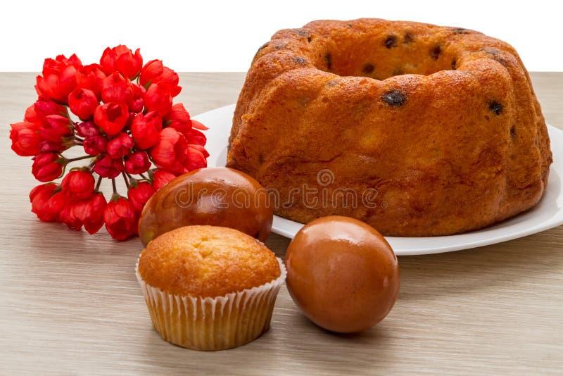 复活节蛋糕用葡萄干 免版税库存图片