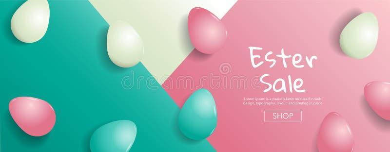 复活节销售,明亮的甜时尚样式 流行艺术 创造性的Retr 库存例证