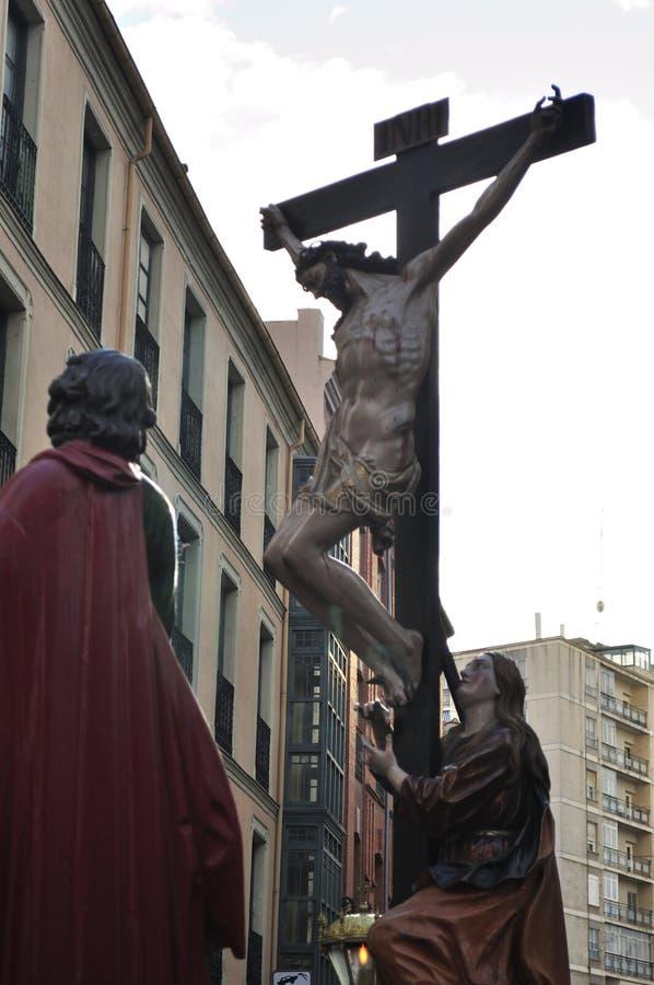 复活节队伍在巴里阿多里德,西班牙 免版税库存图片