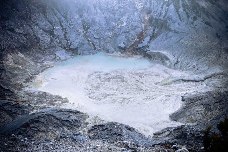 复舟火山在Lembang,印度尼西亚 图库摄影
