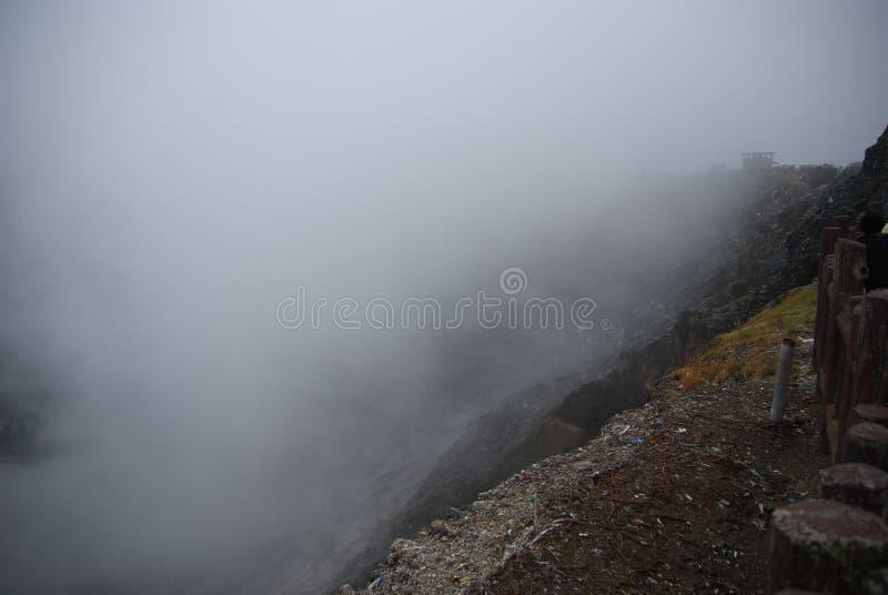 复舟火山火山口在万隆,印度尼西亚 免版税库存图片