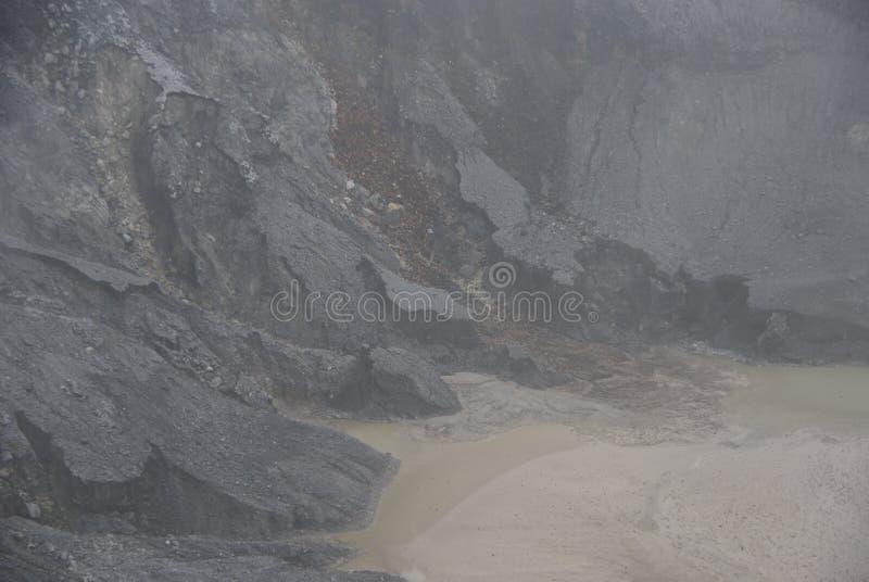 复舟火山火山口在万隆,印度尼西亚 库存图片