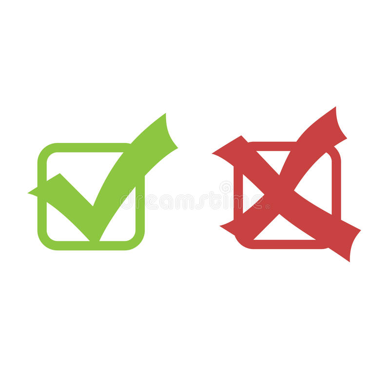 复选标记向量 库存例证