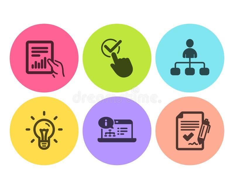 复选框、想法和文件象集合 管理、网上文献和批准的协议标志 ?? 库存例证
