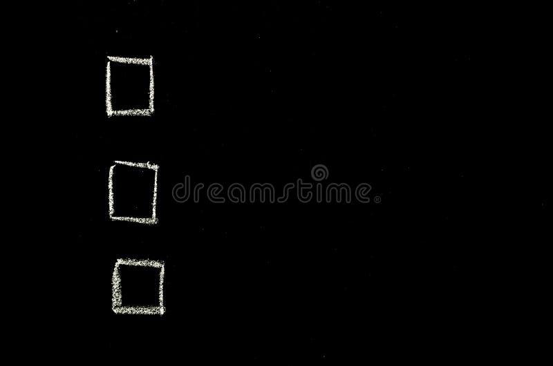 复选框手拉在黑板 免版税图库摄影