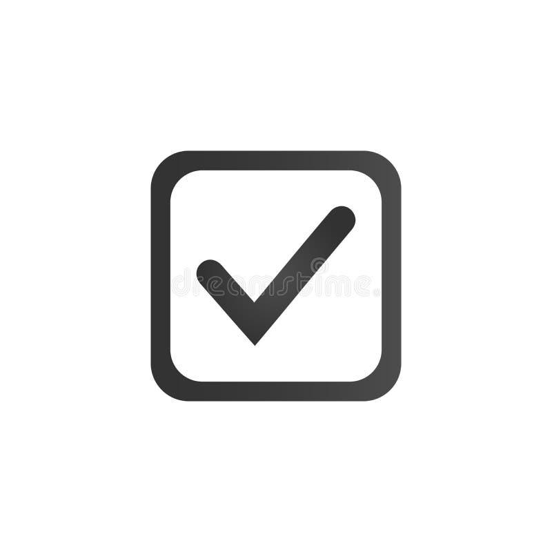 复选框象 平的标志样式 简单的网络设计 传染媒介例证标志 库存例证