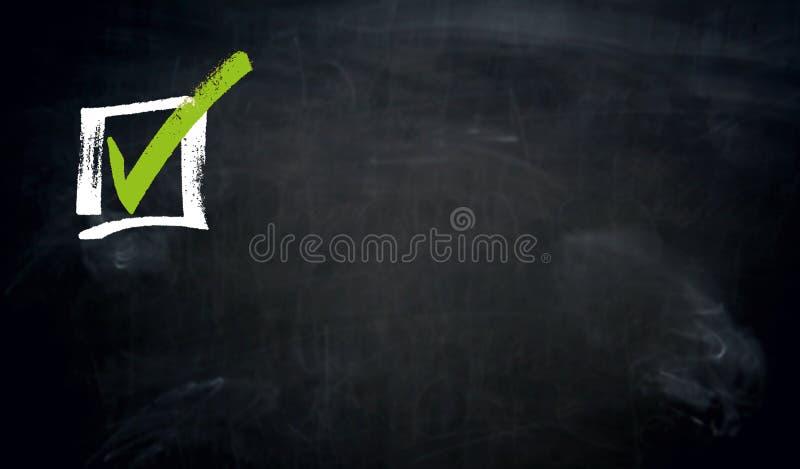 复选框黑板概念背景 免版税库存图片