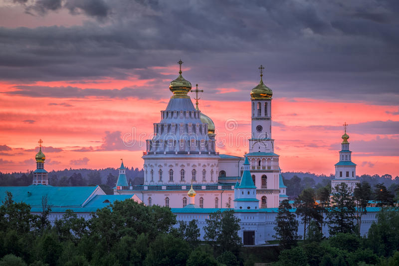 复活新耶路撒冷修道院早晨 免版税库存图片
