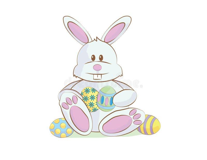 复活节兔子动画片 免版税库存图片