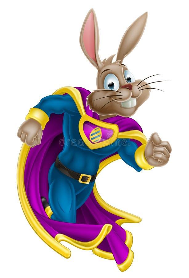 复活节兔子特级英雄 向量例证