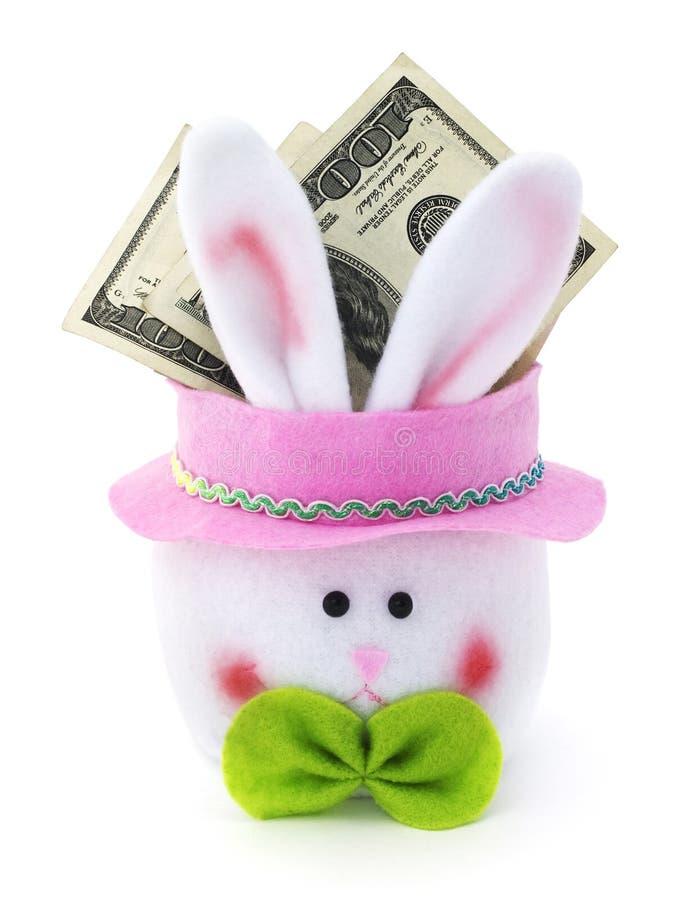 复活节兔子现金 图库摄影