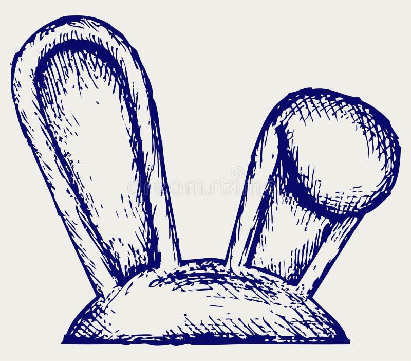 复活节兔子耳朵 皇族释放例证