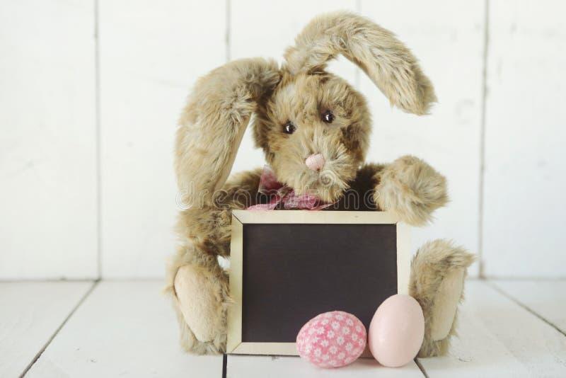 复活节兔子主题的假日场合图象 免版税图库摄影