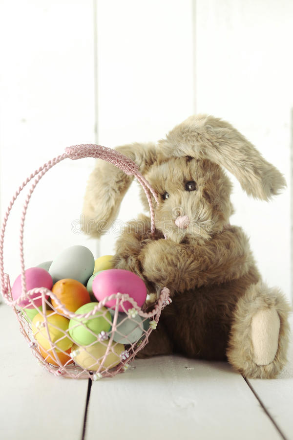 复活节兔子主题的假日场合图象 免版税库存照片
