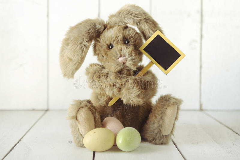 复活节兔子主题的假日场合图象 免版税库存图片
