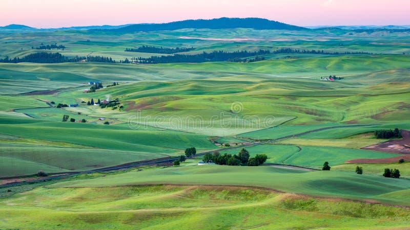 复活节华盛顿农场土地鸟瞰图  图库摄影