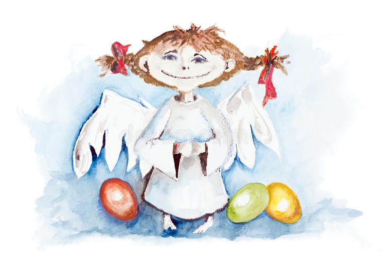 Download 复活节天使 库存例证. 插画 包括有 基督徒, 女孩, 艺术, 鸡蛋, 抽象, 装饰, 金黄, beauvoir - 30331306