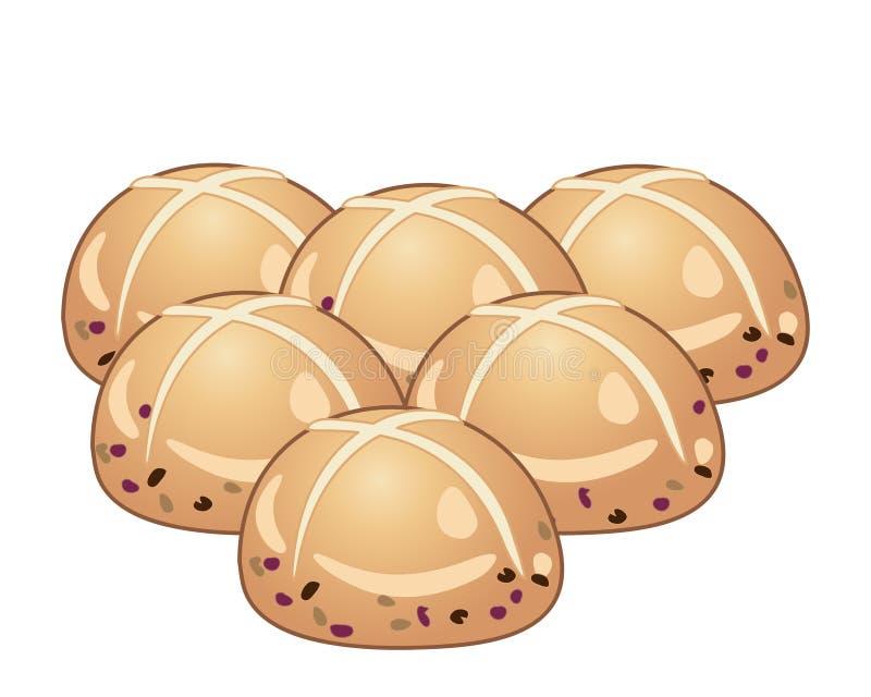 复活节小圆面包 向量例证