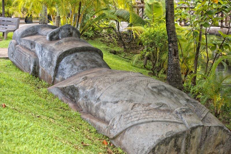 复活节岛moai 图库摄影