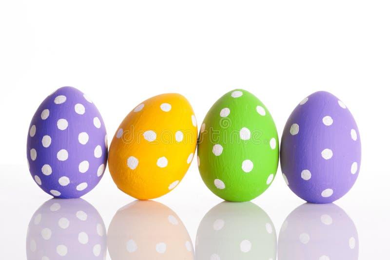 复活节彩蛋查出白色 库存照片
