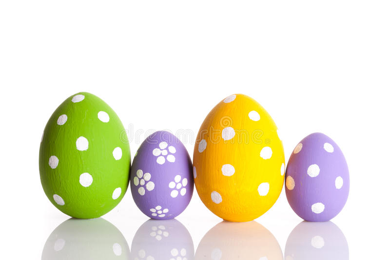 复活节彩蛋查出白色 免版税库存照片