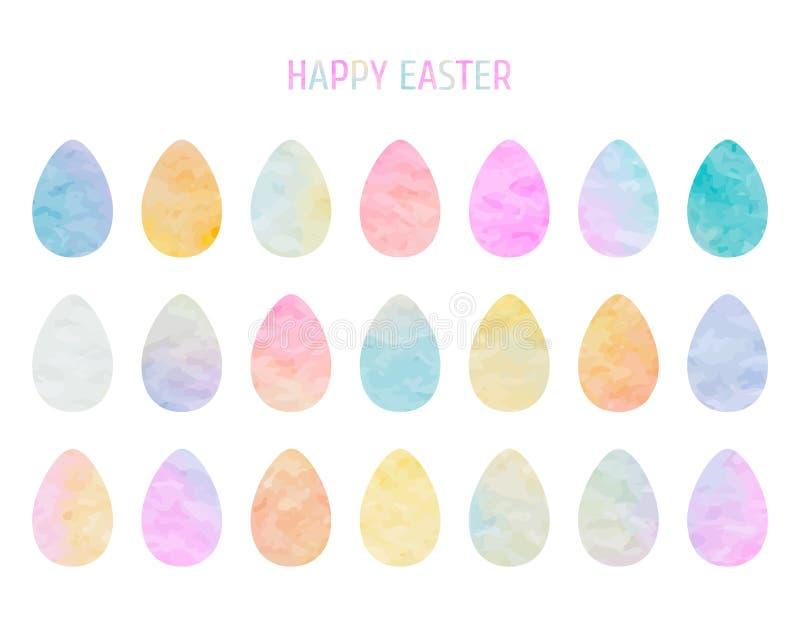 复活节彩蛋汇集 向量例证
