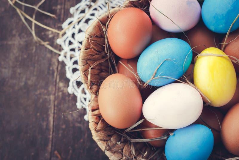 复活节彩蛋照片构成 免版税库存照片