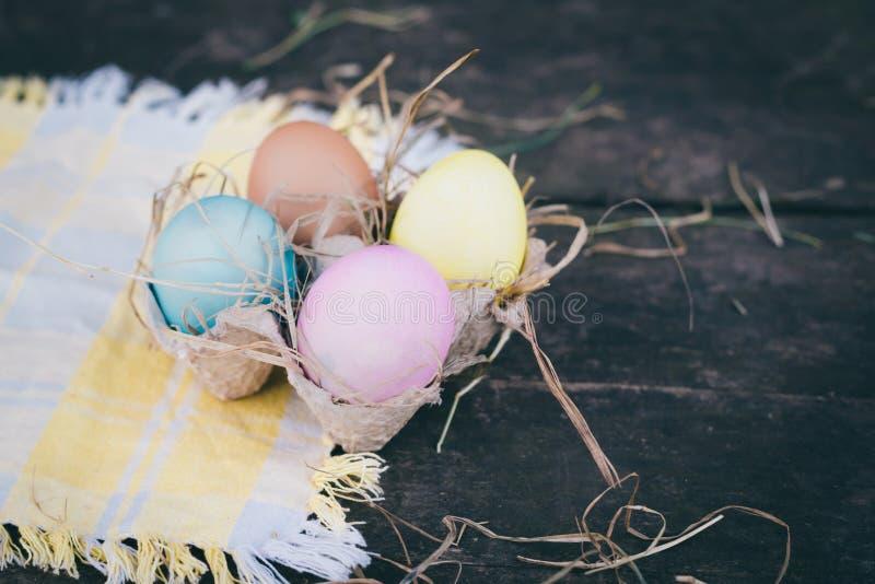 复活节彩蛋照片构成 免版税库存图片