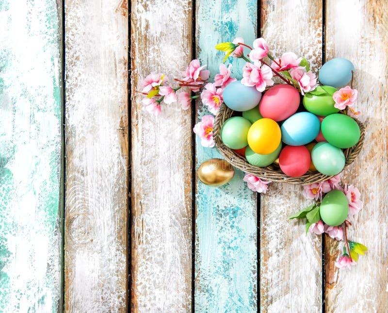 复活节彩蛋花装饰假日安排 库存图片