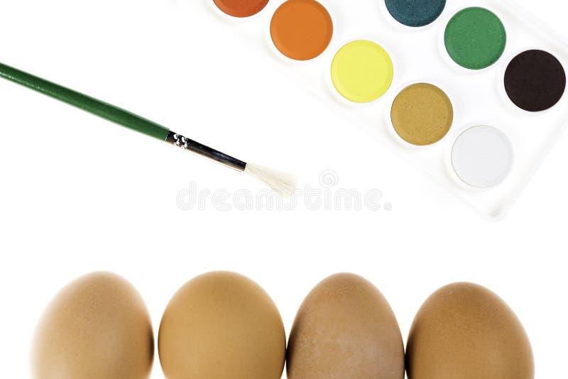 复活节彩蛋装饰 库存照片
