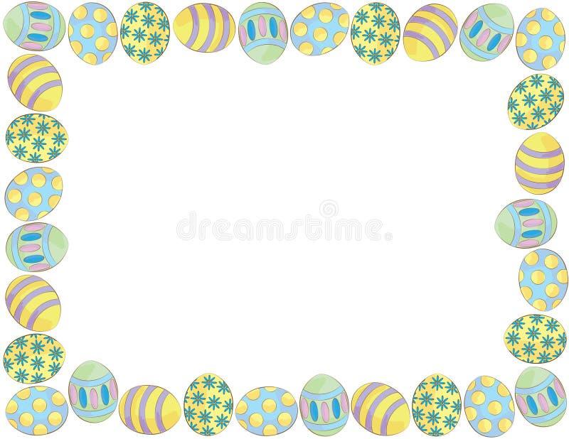 复活节彩蛋边界 免版税库存图片