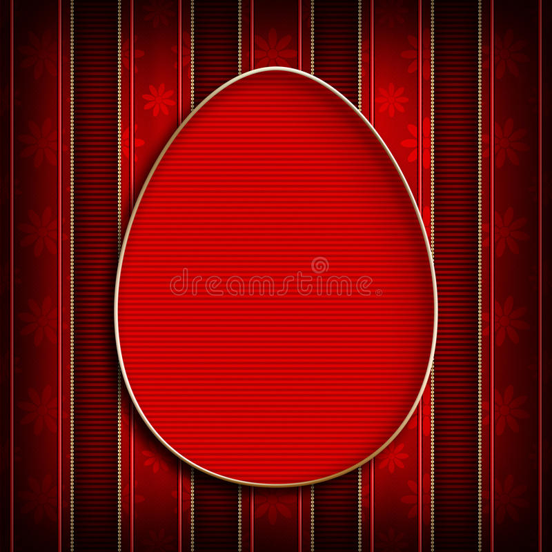 复活节快乐-贺卡模板设计  皇族释放例证