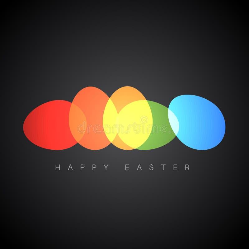 复活节快乐-最低纲领派五颜六色的复活节卡片 库存例证
