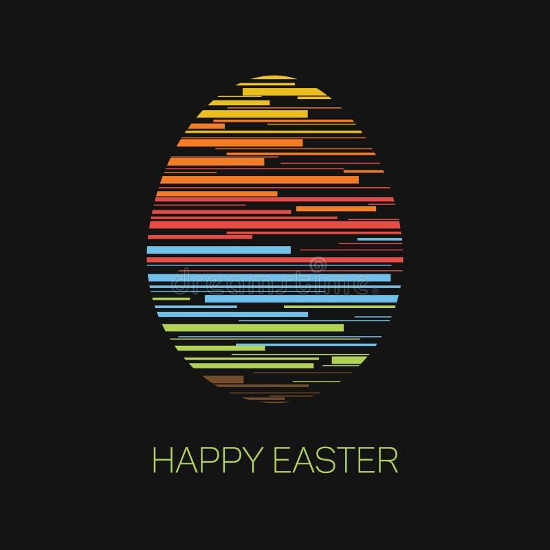 复活节快乐-最低纲领派复活节卡片 向量例证