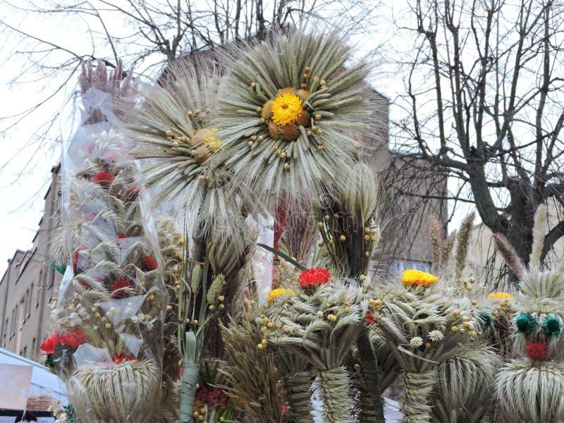复活节棕榈,立陶宛 库存图片