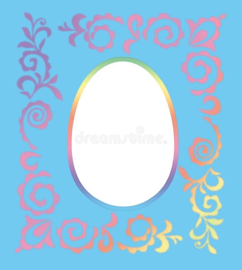 复活节照片框架 向量例证