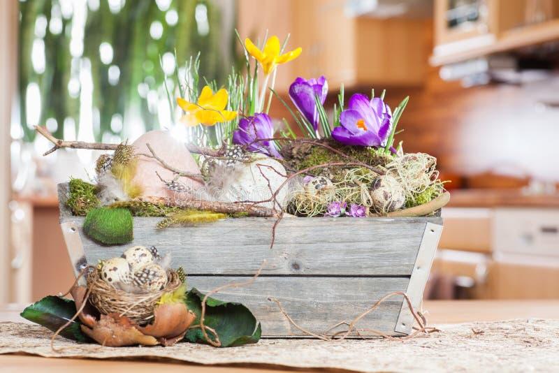 复活节装饰在家 库存图片