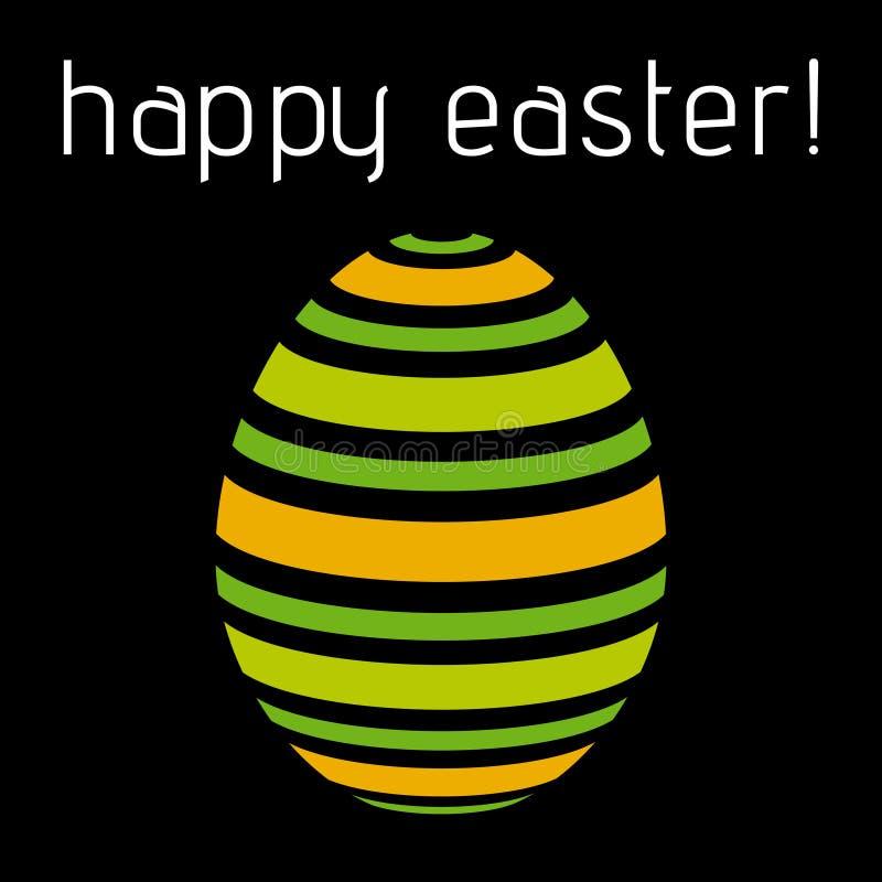 复活节问候-淡色绿色,橙色镶边鸡蛋 皇族释放例证