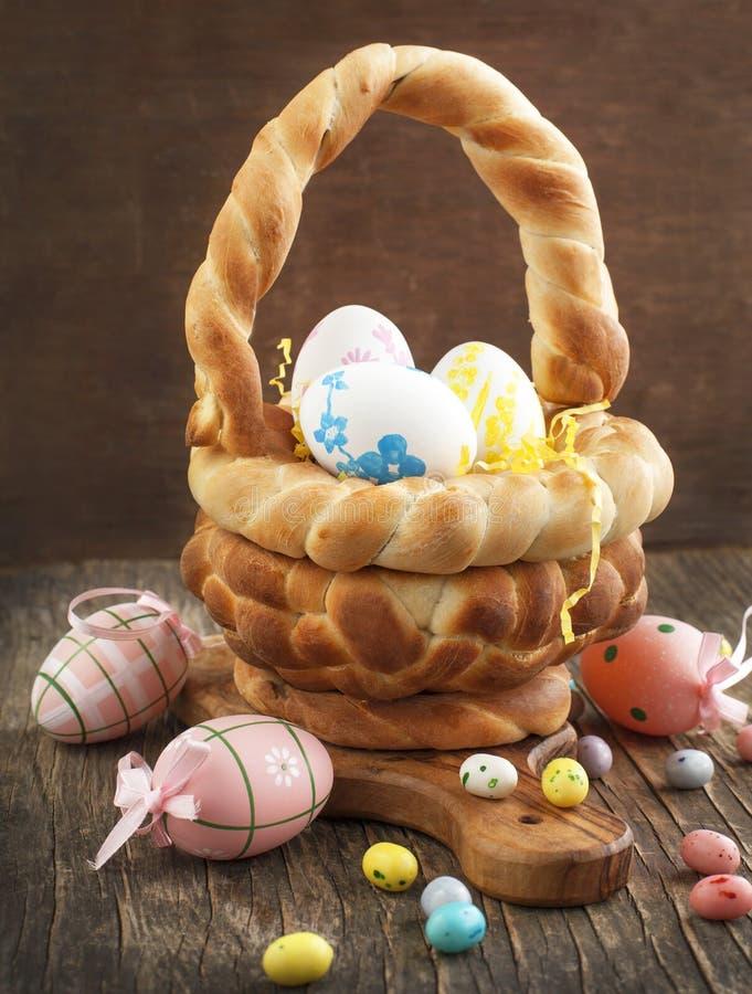 复活节面包篮子 图库摄影