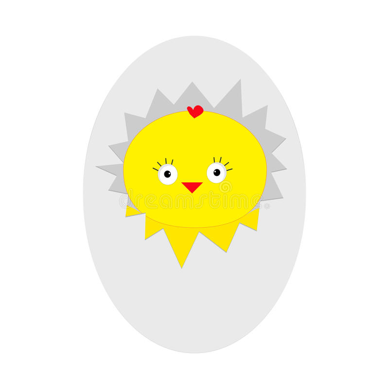 复活节婴孩鸡 蛋壳裂缝 逗人喜爱的漫画人物 牲口汇集 奶油被装载的饼干 查出 平的设计 皇族释放例证