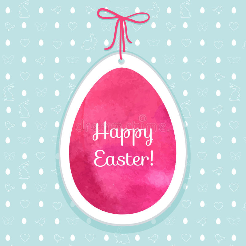 复活节水彩背景和无缝的样式用鸡蛋, rab 皇族释放例证