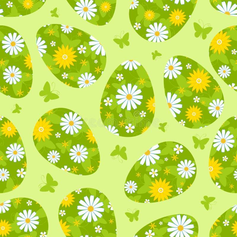 复活节绿色无缝的样式。 免版税图库摄影
