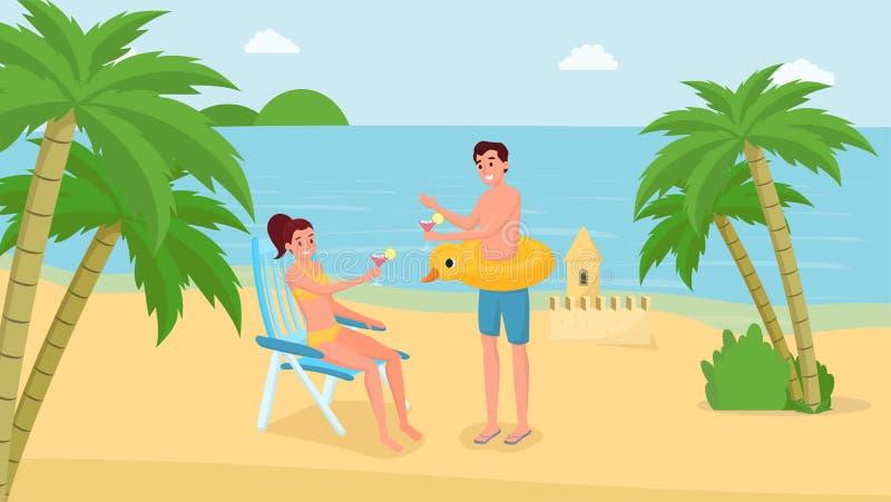 夏天休假假期传染媒介例证 向量例证