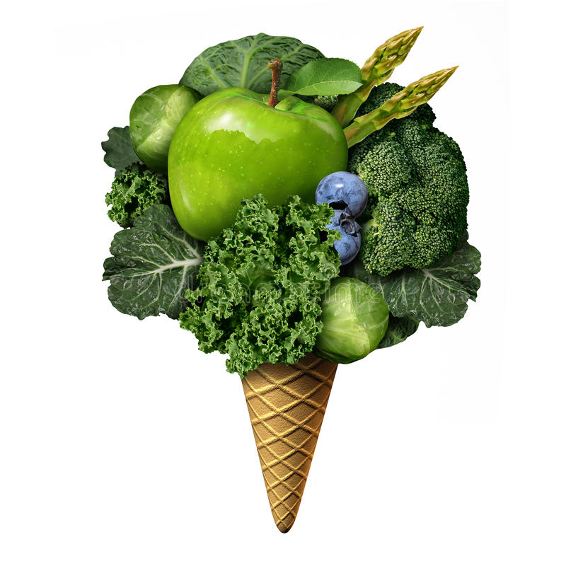 夏天健康食物 向量例证