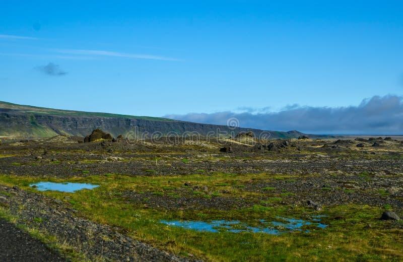 夏天冰岛风景 图库摄影