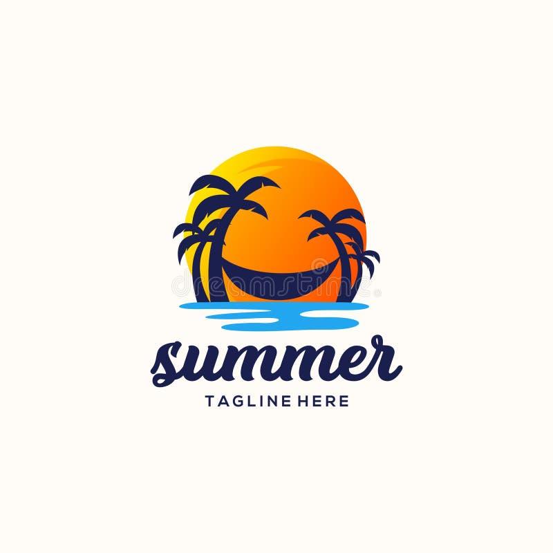 夏天商标设计传染媒介例证 向量例证